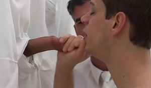 Boy fucked while sucking huge cock at cult gloryhole