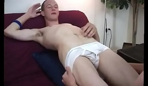Daddy twink caught masturbating gay xxx Aiden cleaned his face off