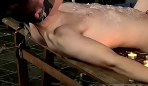 Free hot gay cowboy bondage porn Wanked And Waxed To The Limit