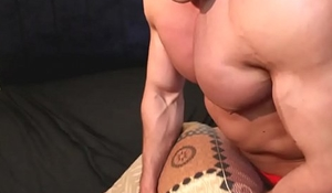 Pounded hard by a monster cock