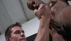 White Gay Twink Gives Handjob And Suck BBC 27