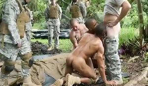 Gay men military photo asshole Jungle plumb fest