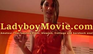 Ladyboy Prem Frottage and Bareback