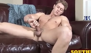 Southern guy Charlie gets to casting and wanks his fat cock