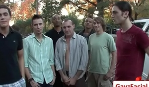 Bukkake Gay Boys - Nasty bareback facial cumshot parties 03