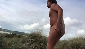 Naturist Boy Playing with his toy
