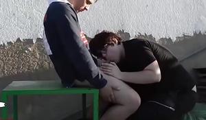 Blowjob &amp_ cum eating outdoor. RAF035