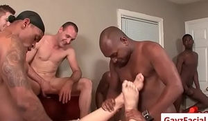 Bukkake Gay Boys - Nasty bareback facial cumshot parties 02