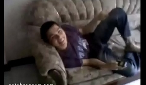 Straight Boy is Caught Masturbating on Couch