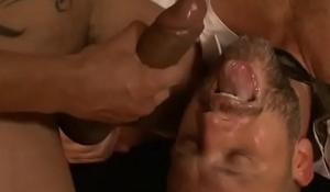 Gay cum eating trash