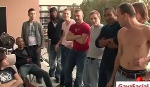 Bukkake Gay Boys - Nasty bareback facial cumshot parties 04