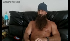 Straight Bearded Daddy Jerks Off
