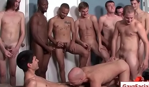 Bukkake Gay Boys - Nasty bareback facial cumshot parties 11