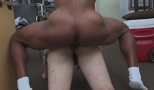 Hot jock gets his ass fucked hard by black dude