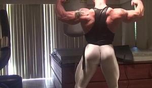 Posing in some insane skin tight gear