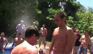 Teen pledger cocksucking for fraternity