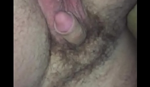Cumming on his cock while he sleeps
