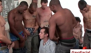 Bukkake Gay Boys - Nasty bareback facial cumshot parties 06