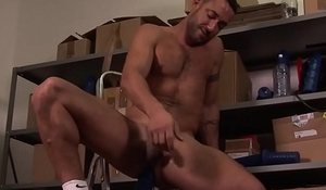 Ripped british jock toys his butthole