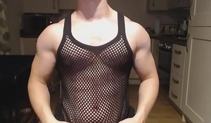 Nathan Greens Biceps are Fucking Massive   Mesh Shirt Muscle God Flex