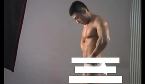 Meili Series - Muscular Jock Hunk Showing His Hot Body ( Behind The Scene )