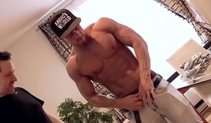 Lucky Guy Touches Jock's Muscles