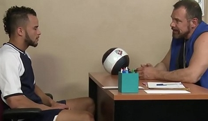 Mature sport coach nails twink till cumdrop