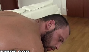 GAYWIRE - Physicality Hunk Oiled Up Be incumbent on A Fabulous Joyful Anal Pounding