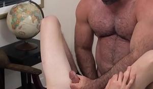 Elated mormon strokes cock