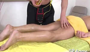 Lovely twink is delighting hunk with wet irritant ass screwing