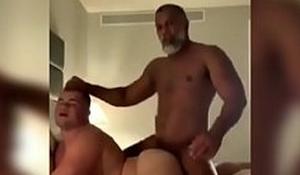 Madure horny man screwing scrounger