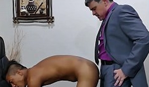 Mature cur� and Asian twink raw fucking each others asses