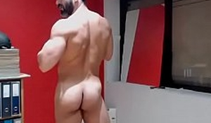 latino23bom shows his ended huge cock and dark asshole