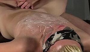 Blonde twink with blindfold gets fucked indigent his anus