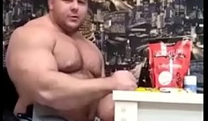 Massive muscle bear