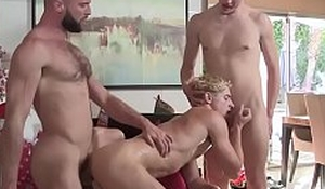Cute stepbrothers anal fucked by stepdad on Christmas
