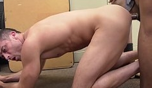 Handsome cracker sucks BBC before turning around for anal