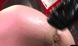 Gaping stud bent over with the addition of fisted from behind