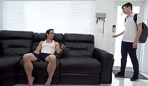 Gay secretary fucks his young nephew - daddy and twink
