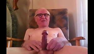 aged Brit masturbator