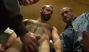 Mature Celebrant having sex with 2 convicts- HairyDaddySex.com