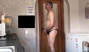sissy neil wanks in his wifes panties