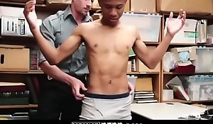 Skinny Ebony Twink Snarled illegal And Barebacked By Security - YOUNGPERP tube porn video